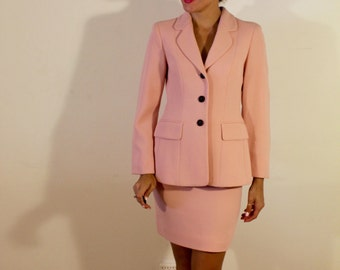 1980s Baby Doll Pink Bow Suit