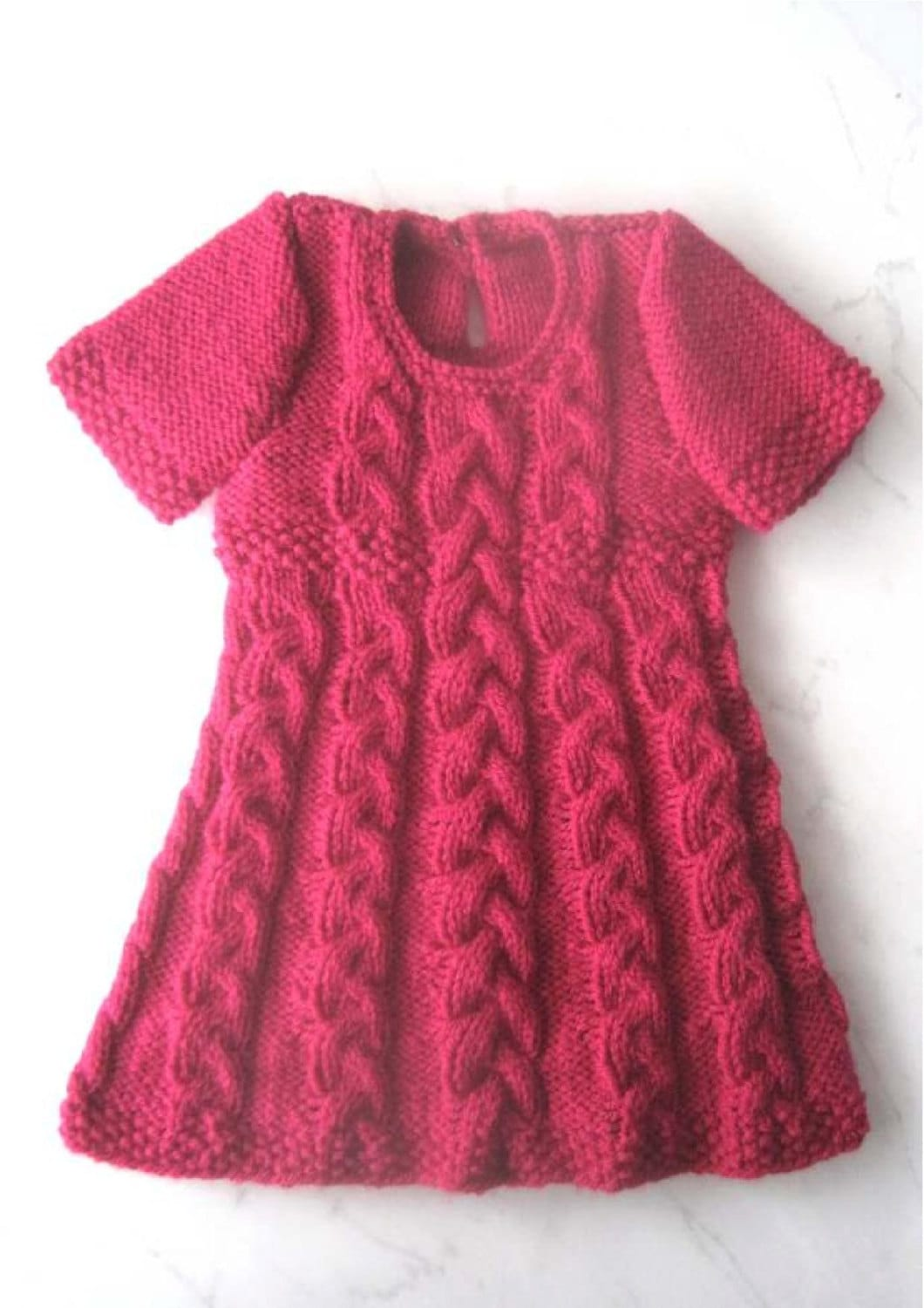 Baby Dress Knitting Pattern Instant Download PDF 6 sizes