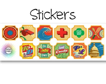 Girl Scout Badge Stickers