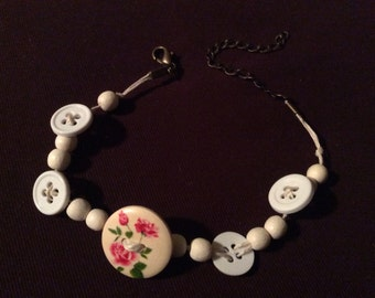 Rose Button Bracelet