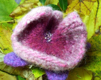 Felted Flower Pin