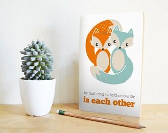 Valentine Card Fox | fox card, I love you card, valentines day card, cute fox card, anniversary card, valentine card printable, valentines