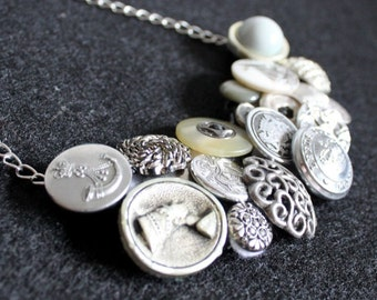 Vintage Button Necklace: 'CUSTOM MADE' (request your own one-of-a-kind personal piece)