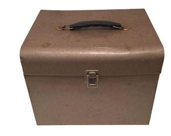 Retro Rustic Industrial Grey/ Brown Metal Box