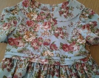 Girls Vintage Style Handmade Dress Age 3