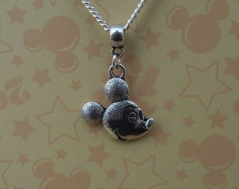 Silver Mickey Mouse Necklace - Disney Necklace