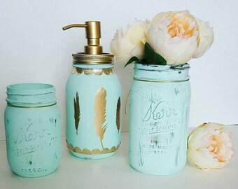 Mason Jar Soap Dispenser - Bathroom Decor - Mason Jar Bathroom Decor - Bathroom Soap Dispenser - Soap Dispenser Pump - Mothers Day Gift
