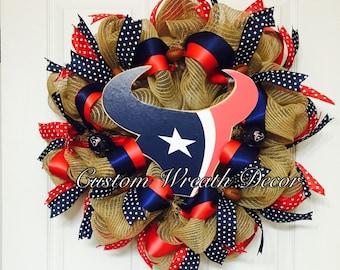 Houston Texans Wreath, Texans Wreath, Texas Football Wreath, Houstons Wreath