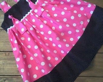 Pink Minnie Mouse Knot Dress, Minnie Dress, Disney dress