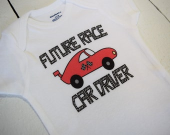 Future Race Car Driver Cute Funny Racing Baby One Piece