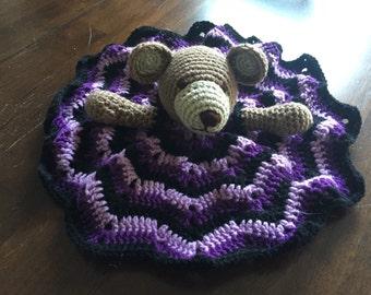 Purple Teddy Bear Lovey