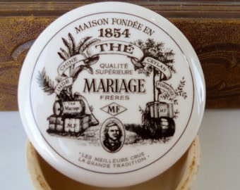 Vintage French advertising tea box mariage frères MF