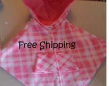 """Hooded Carseat Cape,  Car Seat Poncho with """"SNAP"""" closure- Girls, baby, toddler and kids--FREE SHIPPING"""