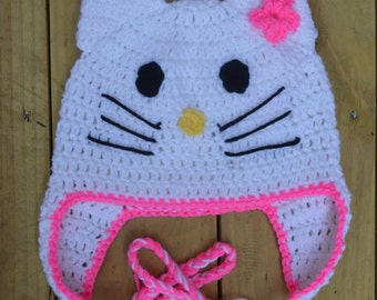 Crochet Kitty Hat