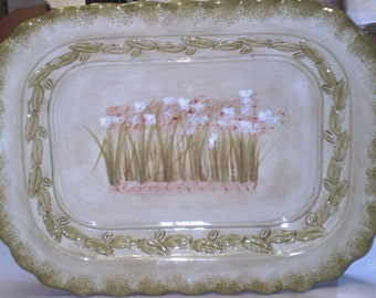 222 Fifth Narcissus Serving Platter