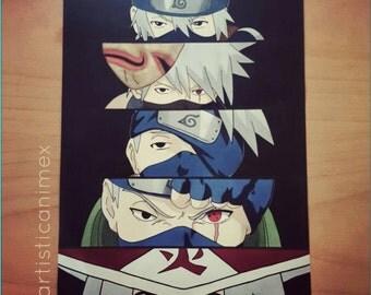 "Anime Eyes: Kakashi - Naruto 8x12"" Print"