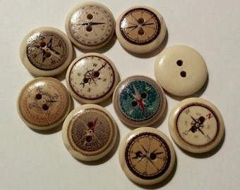 10 Scrap booking buttons - #WS-00022