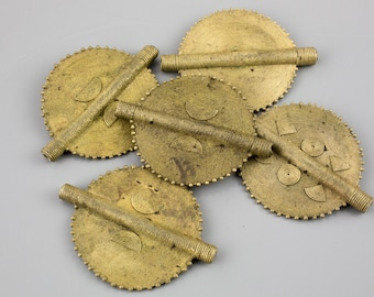Authentic Ethiopian Large Brass Flat Coin 50mm 1 pc per Order