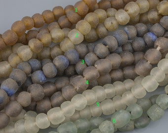 """Ethiopian African Glass Beads. 12mm. 20 inch strands. 20"""""""