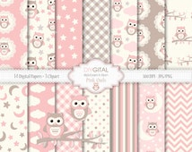 Unique Girl Owl Baby Shower Related Items Etsy