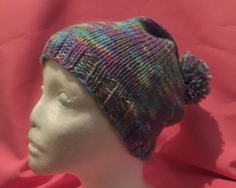 Slouchy hat and fingerless glove set