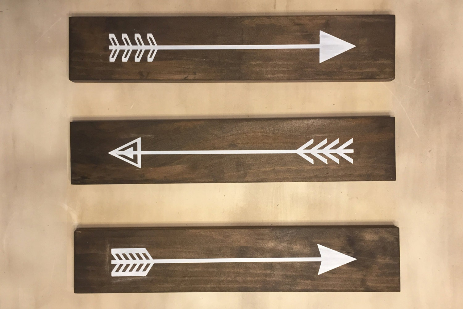 Wall Decor Wooden Arrows : Set of rustic wood arrows wall decor sign