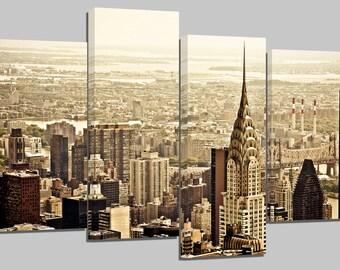 "new york manhattan/set of 4 new frames/ 32""x 20"""