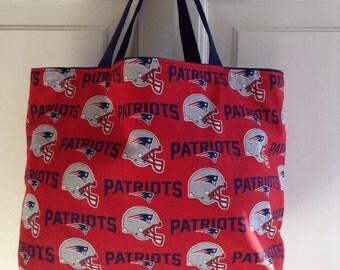 New England Patriots tote bag