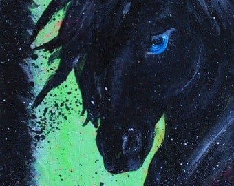 Friesian Princess, Limited edition ACEO print by Allison Muldoon/ChuckandStan
