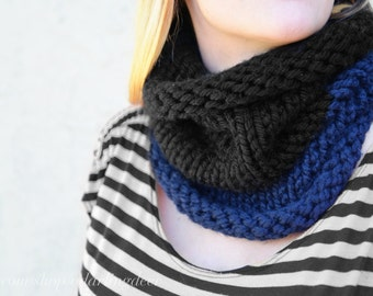 Two-Toned Knit Cowl