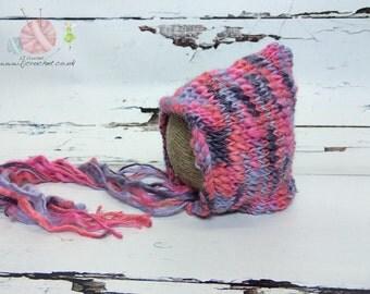 Newborn Pixie Hat, Newborn Photo Prop, Newborn Props, Newborn Hat, Baby Bonnet, UK Baby Photo Props, Baby Photography Props, UK Seller