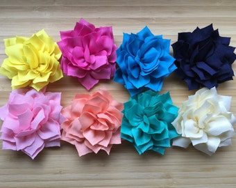 Lotus Flower Hair Clips You Choose One Color Ribbon Lined Alligator Clip Flower Hair Fascinator