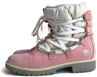 Flash Sale Pastel Pink Timberland Snow Boots Size 9