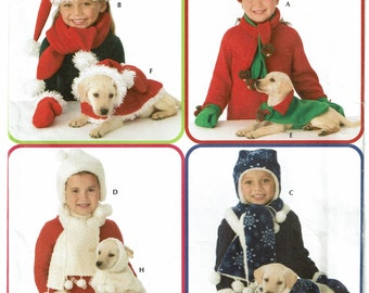 Simplicity Pattern 3973 Elaine Heigl Designs Childs and Dog Winter Accessories UNCUT