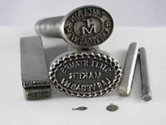 round custom design or logo jewelry stamp steel by