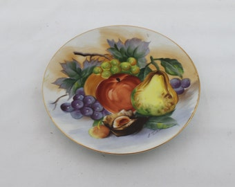 Vintage Hanging Decorative Fruit Plate by Ucagco