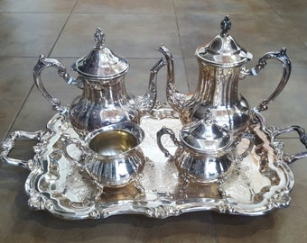 Gorgeous Vintage TOWLE Silver GRAND DUCHESS 5 Pc Tea/Coffee Service with Tray