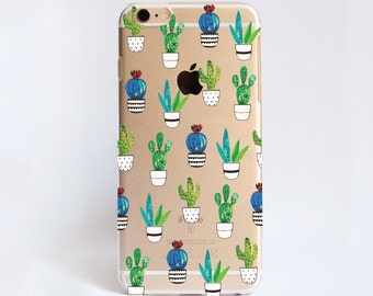Transparent Cactus Cell Phone Case Design for iPhone, Samsung, Sony, HTC, Nokia, LG and Google Pixel / XL Cases