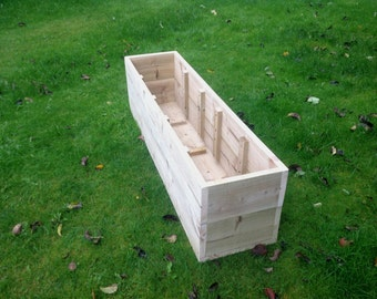 Extra Large Wooden Planters / Raised Beds - from 100cm to 150cm Long x 30cm High x 30cm Wide. Fully Assembled. Fast Delivery