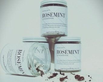 "Relaxing & Detoxifying ""RoseMint"" Detox Bath Soak. All Natural Bath. Mineral Soak. Dead Sea Salts. Himalayan Salt. Rose Petals. Romance."