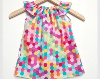 Girls dress sizes 000 to 4, bright and fun!