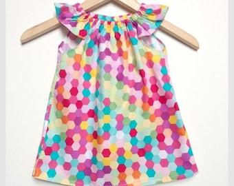 Girls dress sizes 1 - bright and fun!