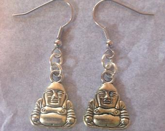 Buddha charm earrings