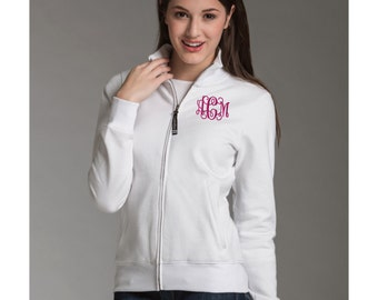 Monogram Womens Jacket. Monogrammed Zip Up. Charles River Women's Onyx Sweatshirt. Personalized Full Zip Jacket. CR: 5468