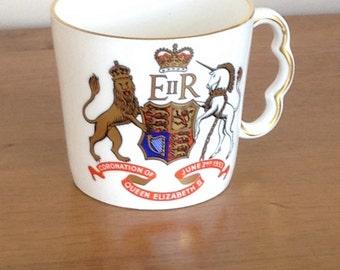 Queen Elizabeth 11 coronation mug