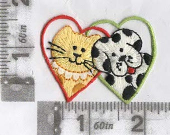 Puppy & Kitty Love iron on patch