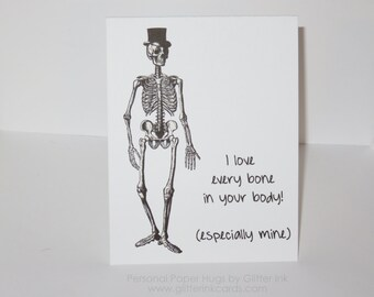 Funny Halloween Card - I love Every Bone in Your Body -