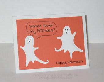 Funny Halloween Card - BOO-bies - Happy Halloween