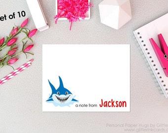 Shark Note Cards - Shark notecards - Shark Stationery - Shark Week Cards - Shark Cards - Shark Thank You - Shark Birthday