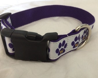 UW Huskies Dog Collar